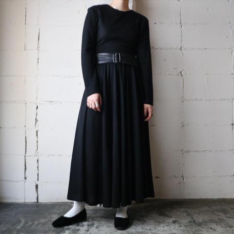 Back Zip Knit Dress BK