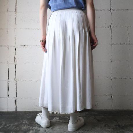 Tucked Flared Skirt WH
