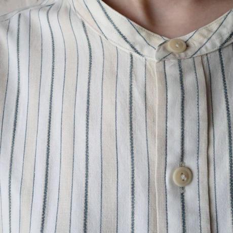 Stripe Band Collar Shirt BEGR