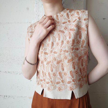 Embroidery Sleeveless Blouse BEOR