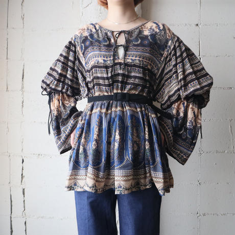 1970's Indian Rayon Blouse BLBK