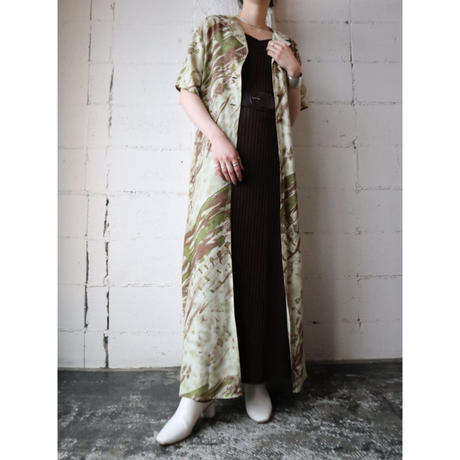 Hand Painted Pattern Coat Dress BE BR KA