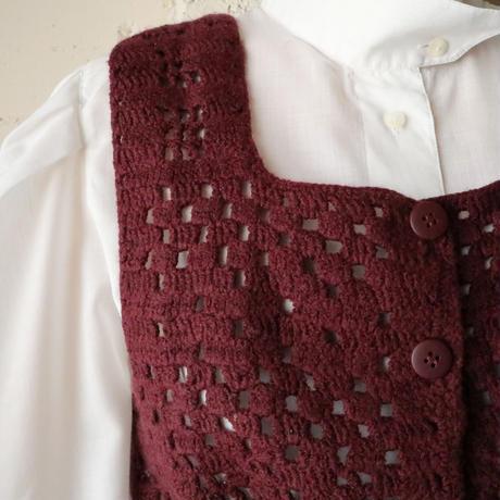 Drawstring Knit Vest BUR