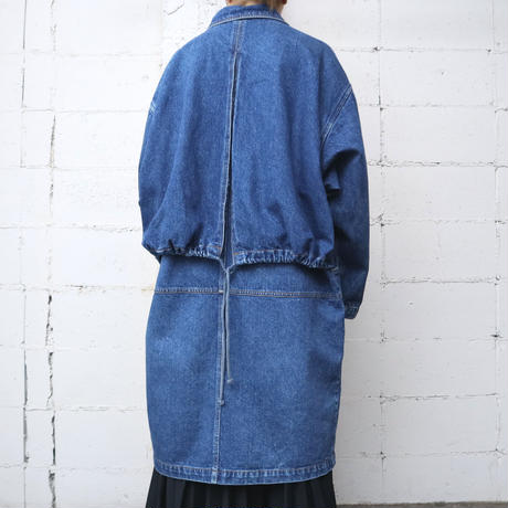 Denim Coat Corduroy Shoulder BL