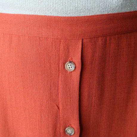 Front Button Flared Skirt OR