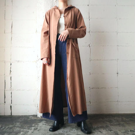 China Button Hooded Coat CM