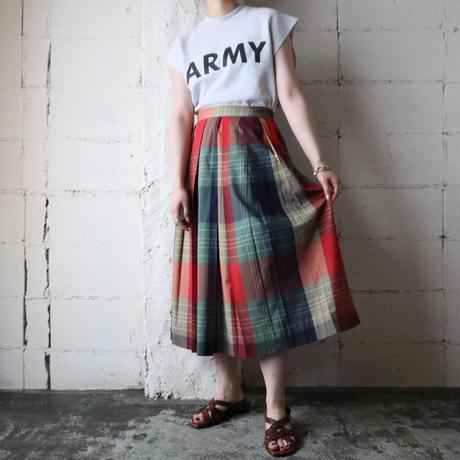 Check Flared Skirt REGN