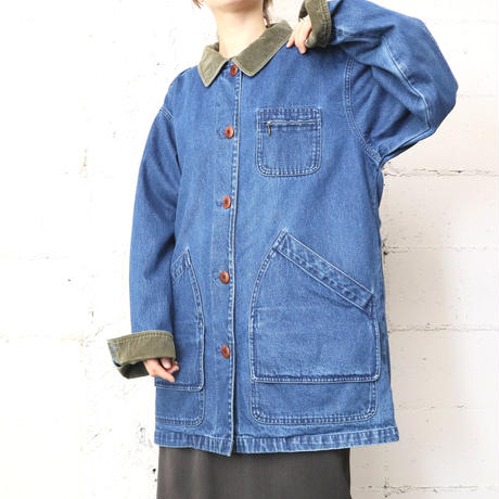 L.L.Bean Denim Hunting Jacket BLKA