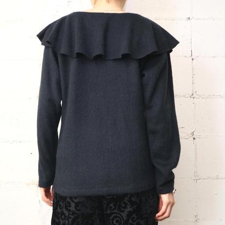 Ruffle Collar Knit BK