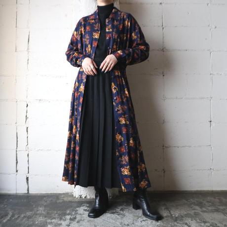 Emblem × Flower Pattern Shirt Dress NV