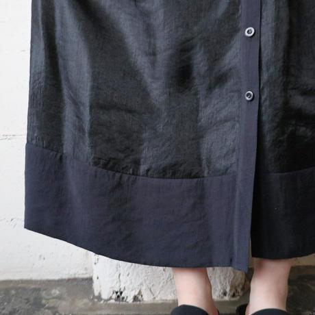 Shiney Flared Shirt Dress BK