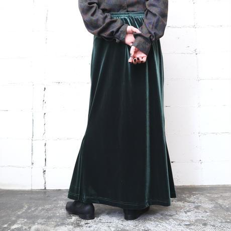 Velour Semi Flared Skirt GR