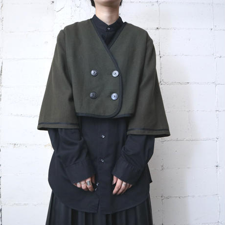 50~60's Collarless Short Jacket KA