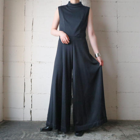 Sleeveless Wide Jumpsuit BK
