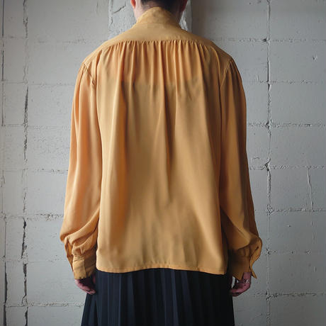 Stand Collar Gather Blouse YE