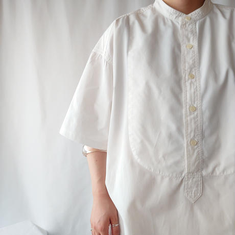 Starched Bosom Band Collar Shirt WH