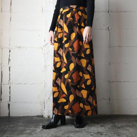 Pattern Long Skirt YEBR