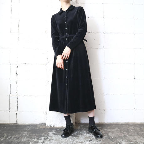 Velour Shirt Dress BK