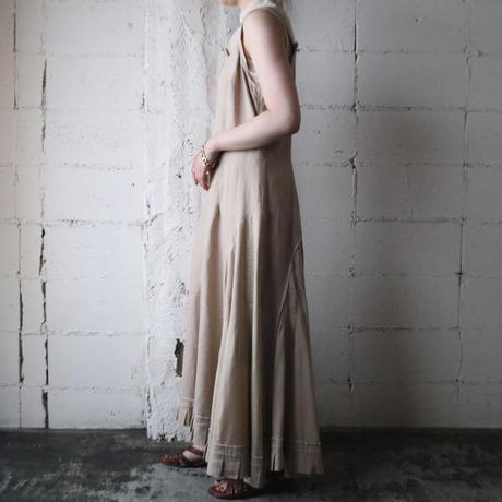 White Stitch Design Dress BE