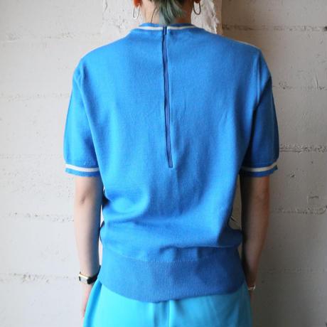 Short Sleeve Design Knit BLWH