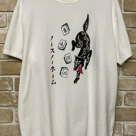 NorthNoName(ノースノーネーム)-NNT-1901 PATCH DESIGN PRINT T-SHIRT(WHITE)
