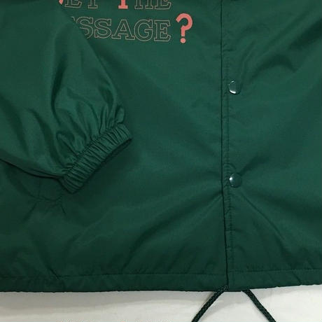 "NorthNoName(ノースノーネーム)-""GET THE MESSAGE?"" COACH JACKET(GREEN)"