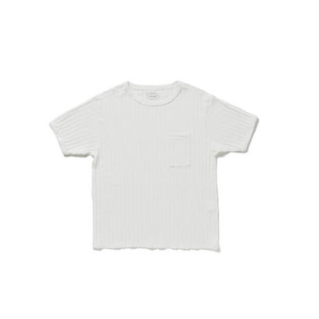 OLD JOE(オールドジョー) -DROP NEEDLE RIBBED TEE(RAW WHITE)
