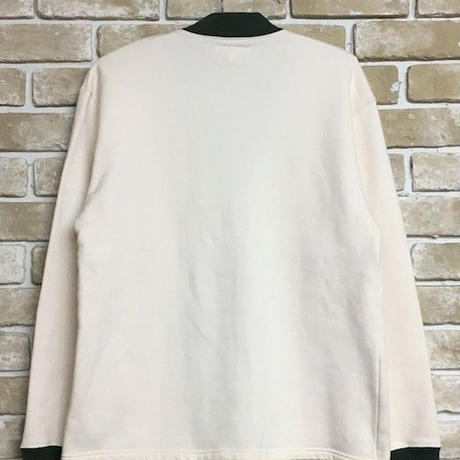 2019 AW 先行予約 NorthNoName(ノースノーネーム)-TWO-TONE SWEAT CARDIGAN(WHITE)
