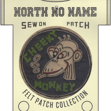 North No Name(ノースノーネーム)-FELT PATCH CHEEKY MONKEY