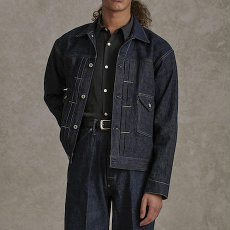 OLD JOE(オールドジョー) OPEN COLLAR RANCH JACKET(INDIGO DENIM)