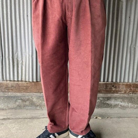 2020年 WINTER 先行予約 NorthNoName(ノースノーネーム)-TOW TUCK CORDUROY TROUSERS(BURGUNDY)