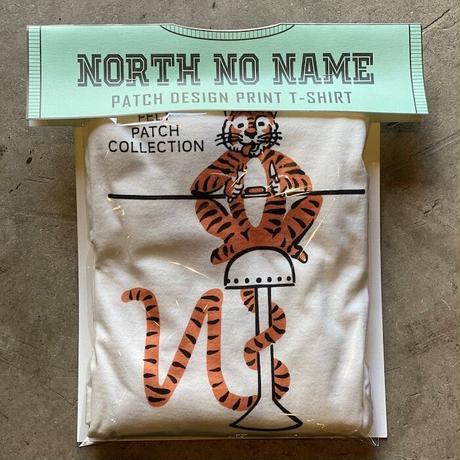 NorthNoName(ノースノーネーム)-2021年 AW先行予約 NNT-2102 PATCH DESIGN PRINT T-SH(WHITE)