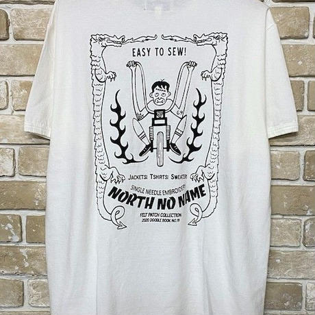 NorthNoName(ノースノーネーム)-2020年 AW先行予約 NNT-2002 PATCH DESIGN PRINT T-SH(WHITE)