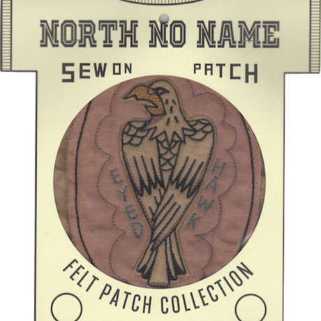 North No Name(ノースノーネーム)-FELT PATCH HAWK EYED