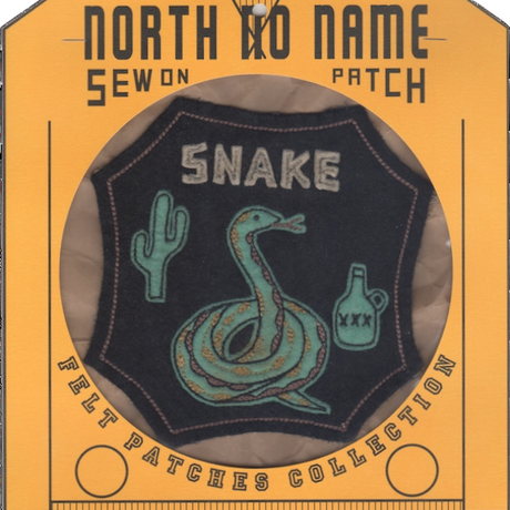 North No Name(ノースノーネーム)-FELT PATCH SNAKE