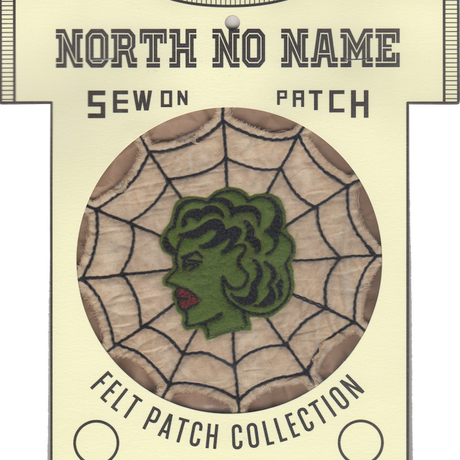 North No Name(ノースノーネーム)-FELT PATCH SPIDERWEB