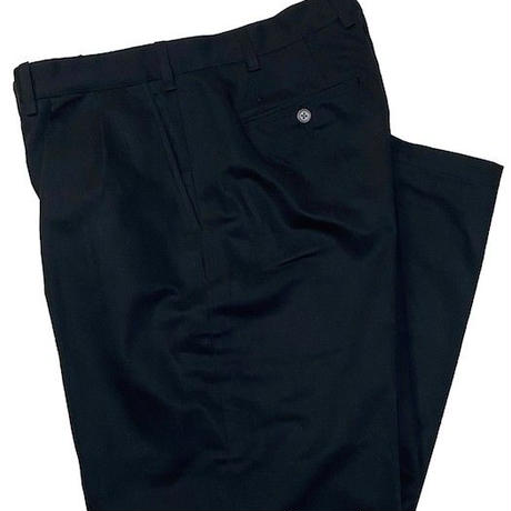 NorthNoName(ノースノーネーム)-TOW TUCK TROUSERS(BLACK)