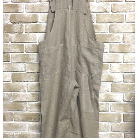 NorthNoName(ノースノーネーム)-30's TYPE LINEN OVER ALL(BEIGE)