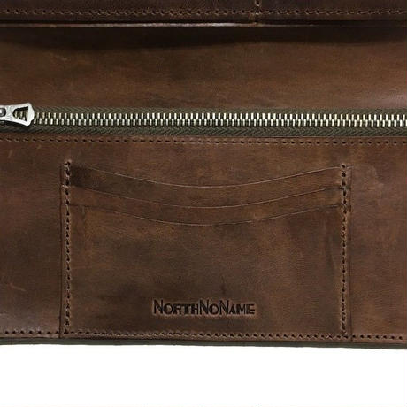 2019 AW 先行予約 NorthNoName(ノースノーネーム)- HORTHHAIR SOUVENIR WALLET(BROWN)