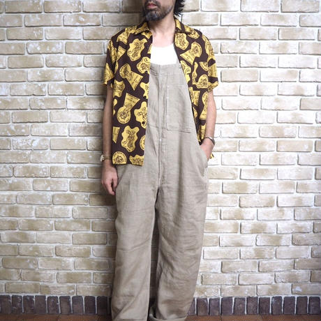 "NorthNoName(ノースノーネーム)-NNN PATCH PATTERN RAYON SHIRTS ""WOLF&WOLFLESS""(BROWN)"