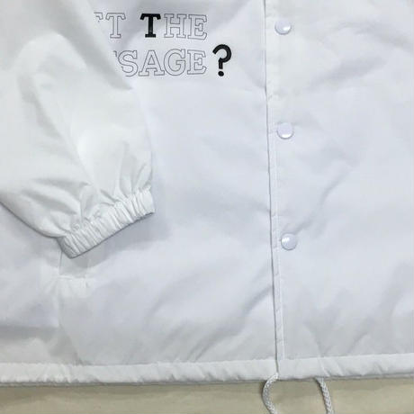 "NorthNoName(ノースノーネーム)-""GET THE MESSAGE?"" COACH JACKET(WHITE)"