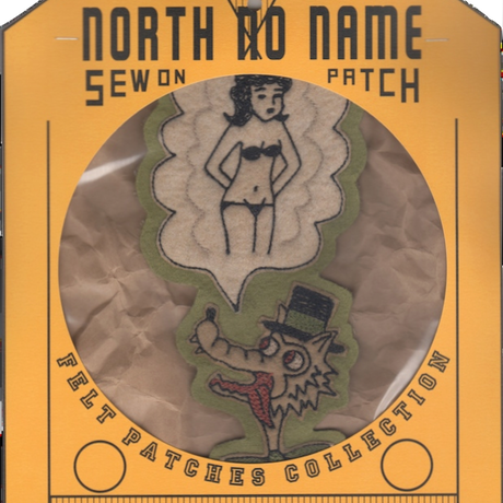 North No Name(ノースノーネーム)-FELT PATCH WOLF