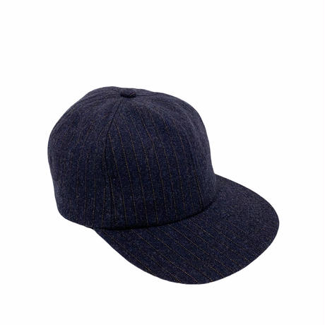 Wool stripe 6 panel hat