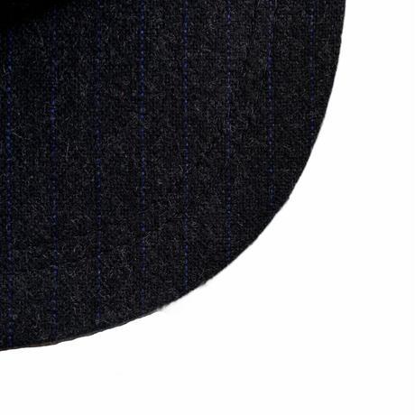 Wool stripe 6 panel hat