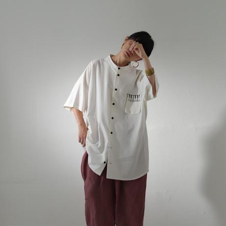 Kan Sano × antiqua - 半袖ピアノシャツ (イエロー)