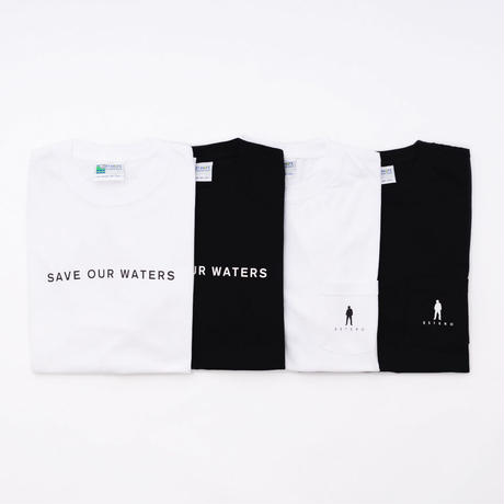 """Michael Kaneko × OFFSHORE """"SAVE OUR WATERS"""" Tシャツ (ブラック)"""
