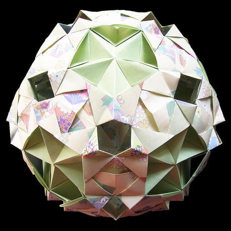 折り紙で作るくす玉の折り図「クランス」