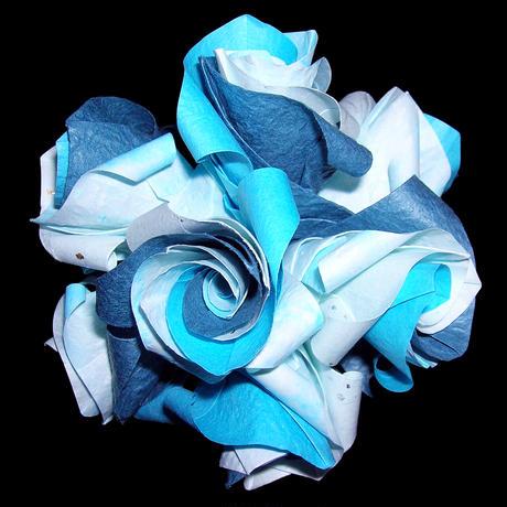 折り紙で作るくす玉の折り図「アプローズ」
