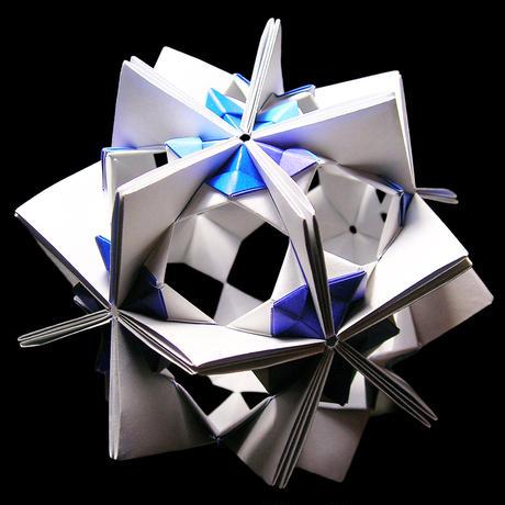 折り紙で作るくす玉の折り図「アラベスクジョイント バリエーション」