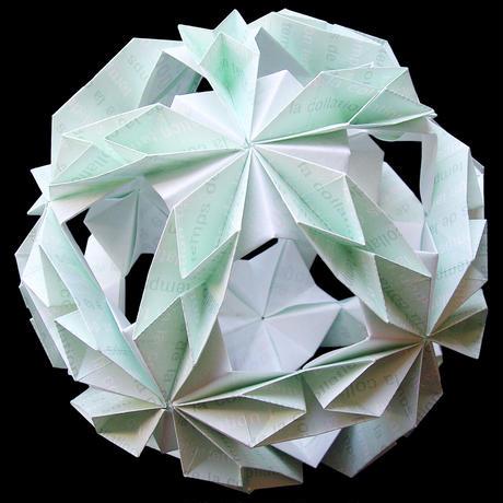 折り紙で作るくす玉の折り図「フラワーオブライフ II」